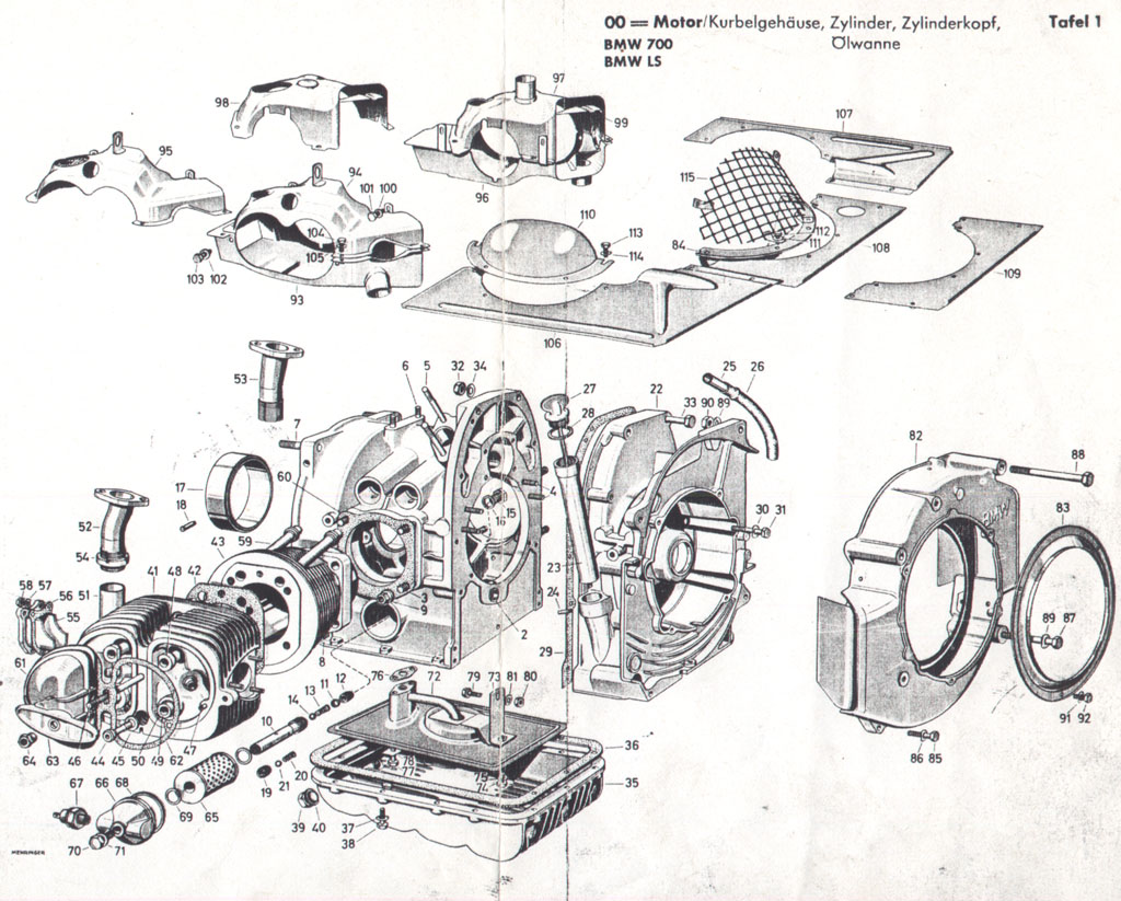 BMW 700 - Engine · www.oldtimerteile.net