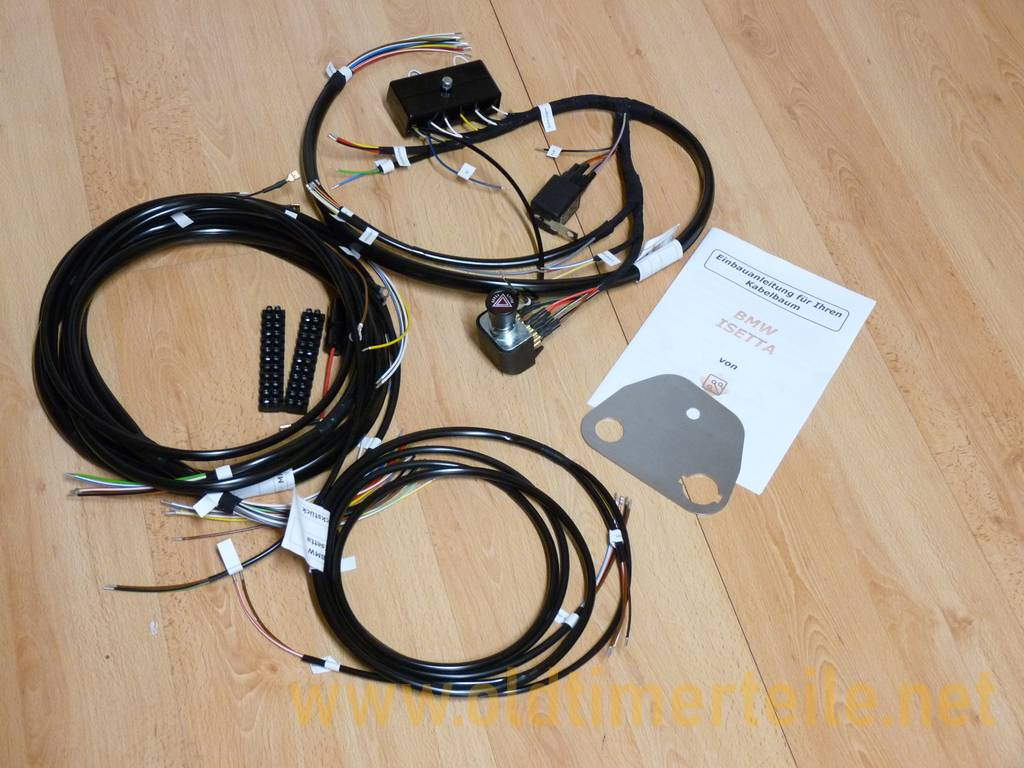 bmw isetta electric equipment · oldtimerteile net generation car wire harness